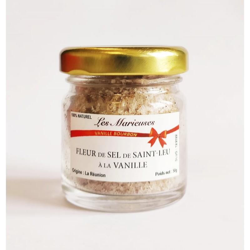 Fleur de sel de saint-leu à la Vanille Bourbon 50g